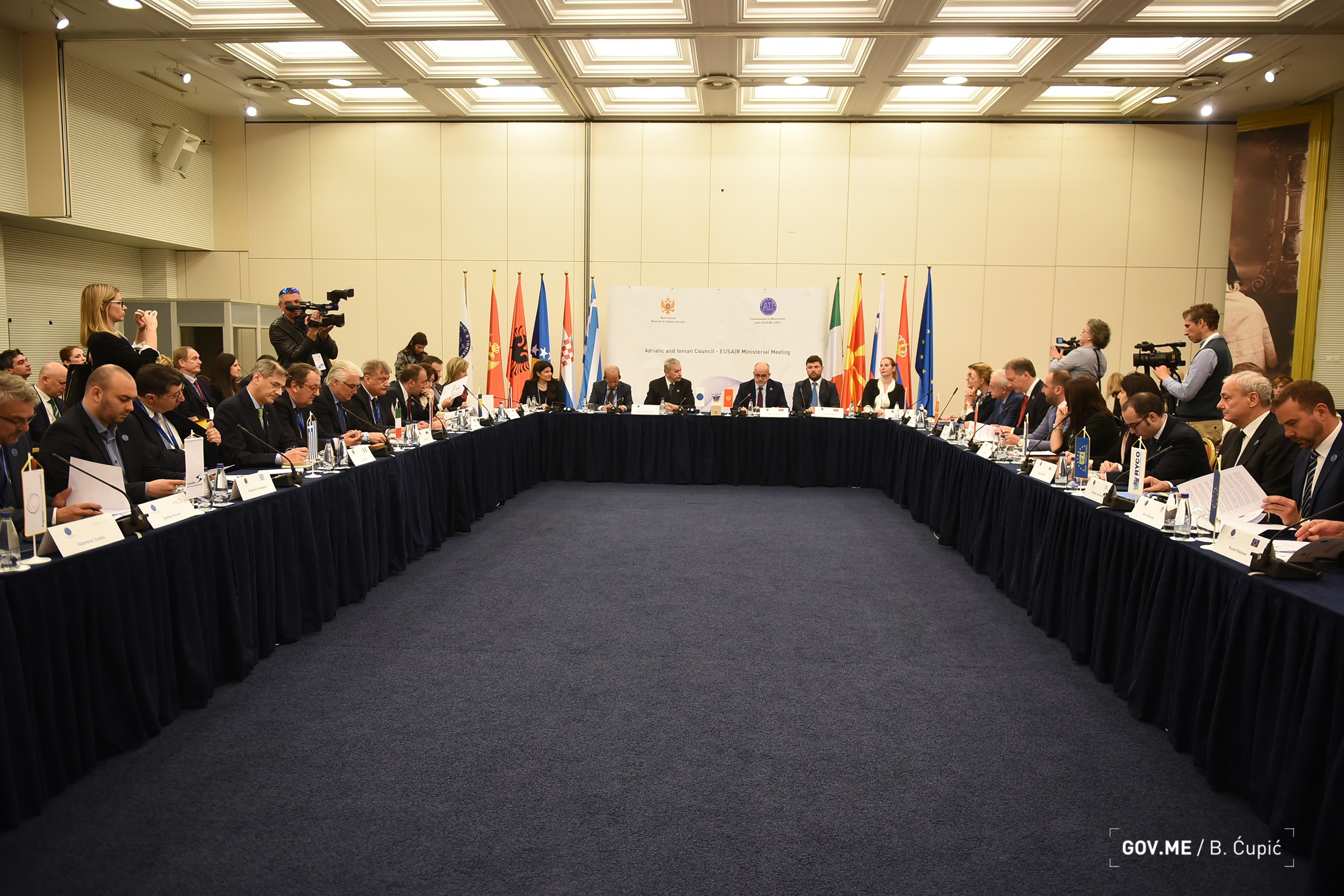 ADRIATIC AND IONIAN COUNCIL / EUSAIR MINISTERIAL MEETING - MAY 8, BUDVA