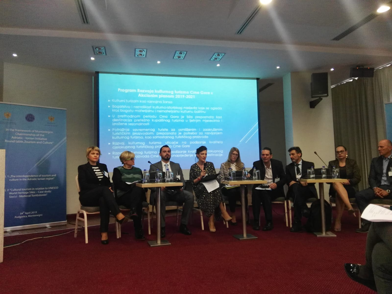 AII ROUND TABLE ON TOURISM AND CULTURE - PODGORICA, 4 APRIL 2019