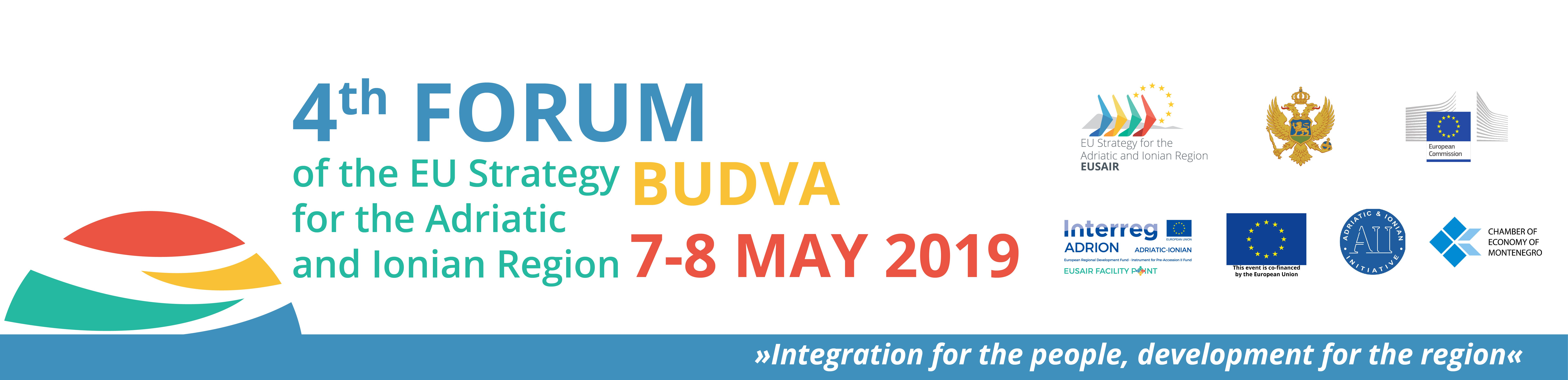 REGISTRATION OPENED - 4th EUSAIR Forum and 2nd Fora of the Adriatic and Ionian Chambers of Commerce, Cities and Universities