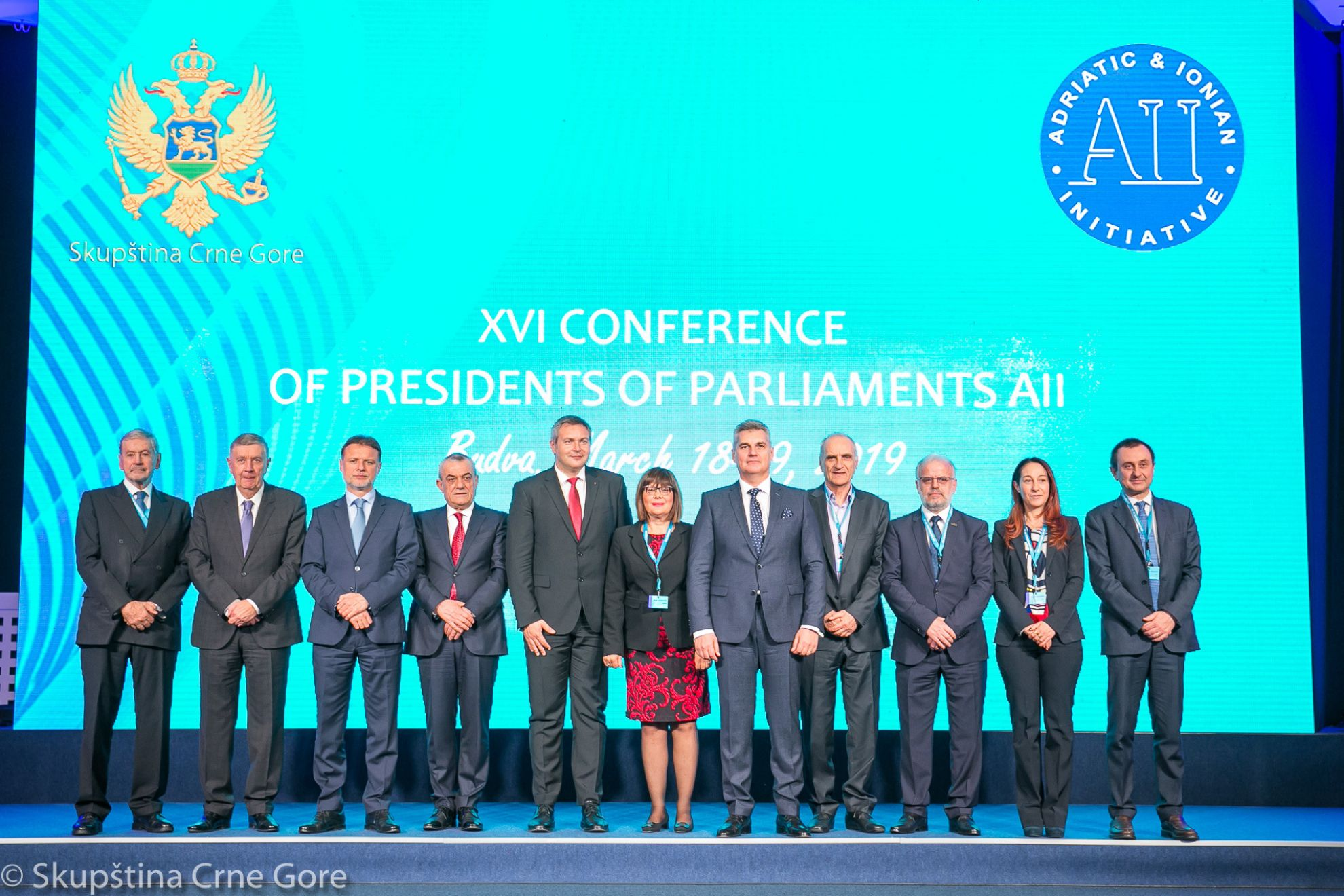XVI CONFERENCE OF PRESIDENTS OF PARLIAMENTS OF THE AII - BUDVA, 18-19 MARCH 2019