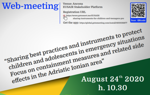 Web-meeting on the protection and promotion of the rights of children in the Adriatic Ionian area - 24 August 2020