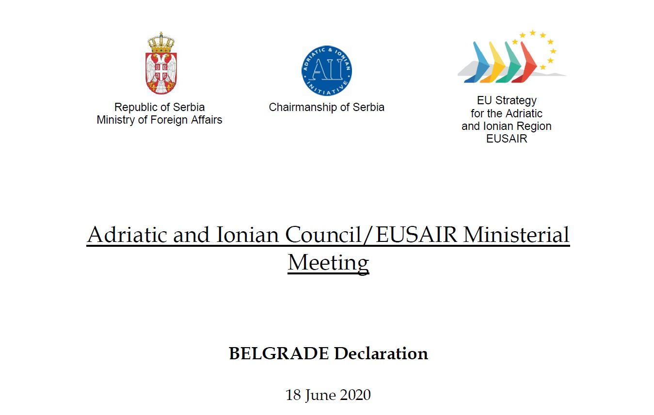 BELGRADE DECLARATION - 18 June 2020