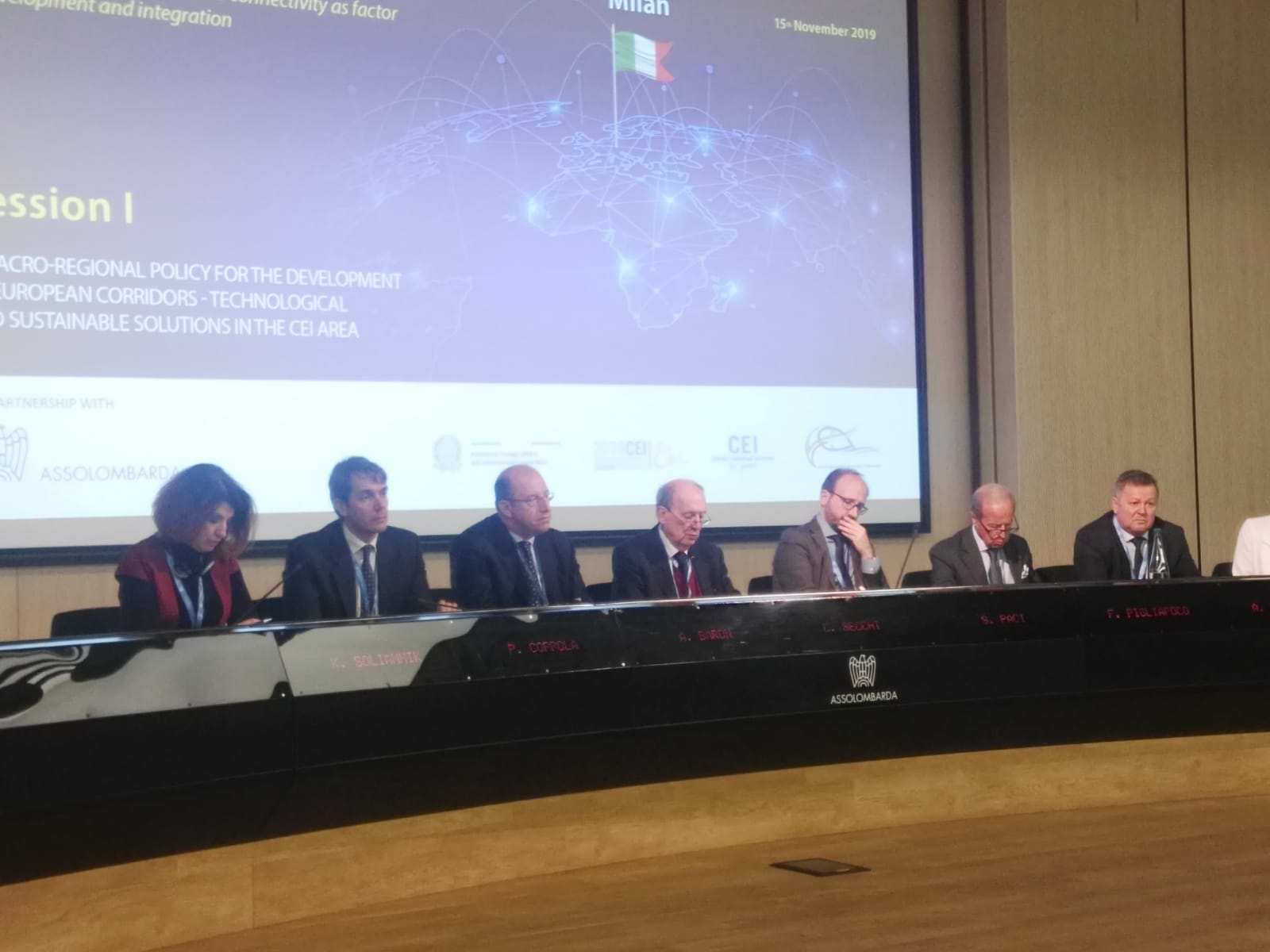 Amb. Pigliapoco as guest speaker at CEI Business and Experts Forum – Milan, 15 November 2019